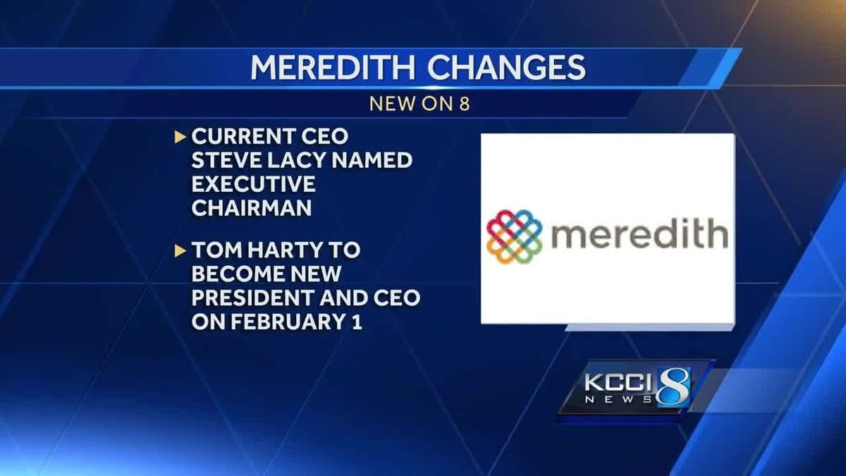 Meredith announces CEO change