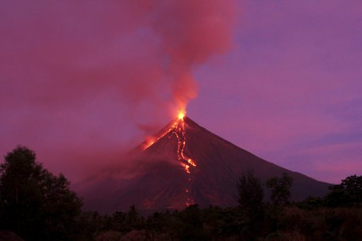 Significant ash falls near erupting Philippine volcano