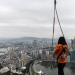 Bungee jumper stuck in mid-air at Macau Tower, as temperature drops to 8 degrees Celsius