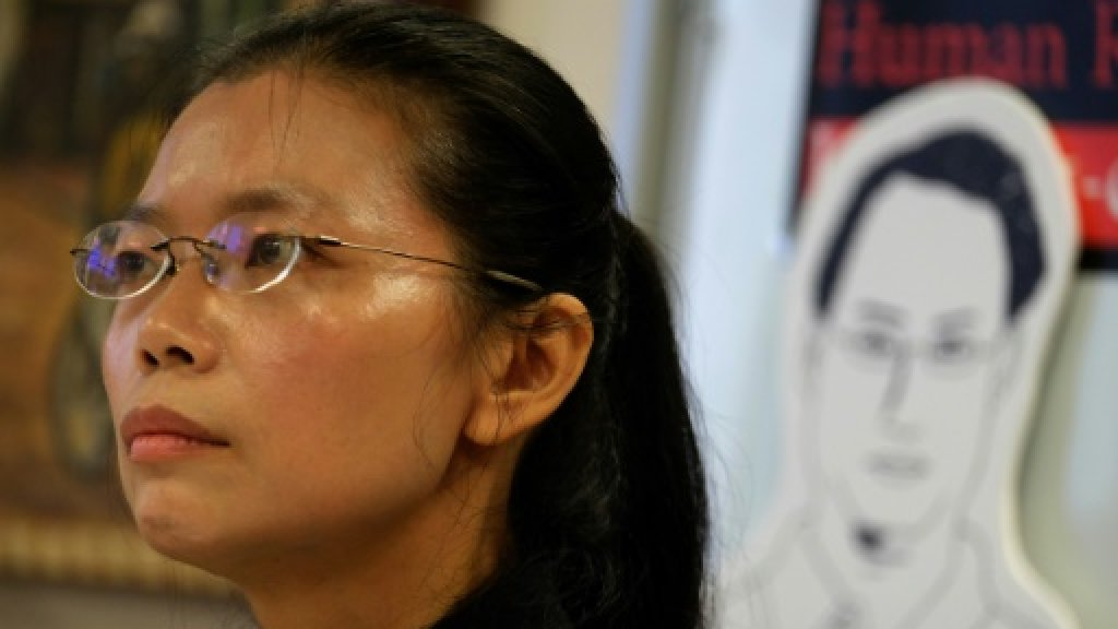 Wife of Taiwan activist jailed in China barred from visiting