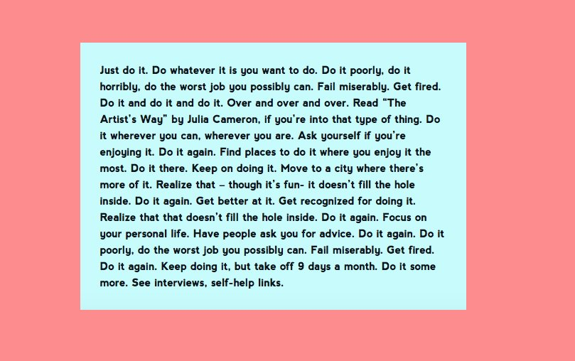 RT @soalexgoes: i liked this advice maria bamford gave a fan so much that i made it my desktop background https://t.co/M2VmPQMw63