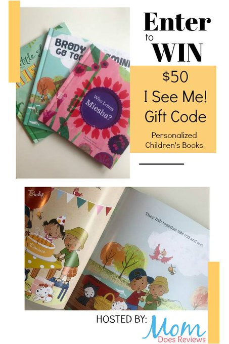 $50 I See Me! Personalized Storybooks Gift Code-1-US-Ends 2/25