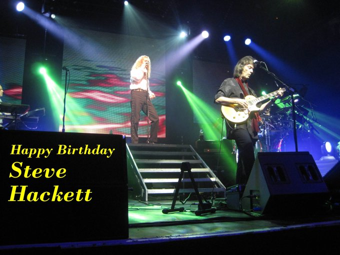 Happy Birthday Steve Hackett....still striving beyond existing stagnant music forms!