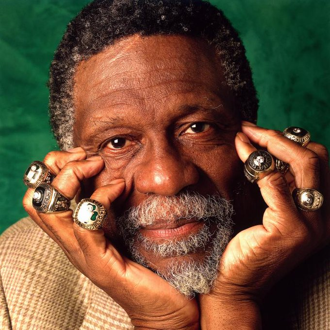 Happy Birthday to the great Bill Russell 11 championships in 13 seasons with the five NBA MVP Awards