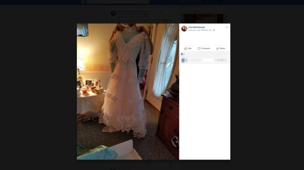 Wedding dress returned to Ohio woman 32 years after dry cleaner mix-up