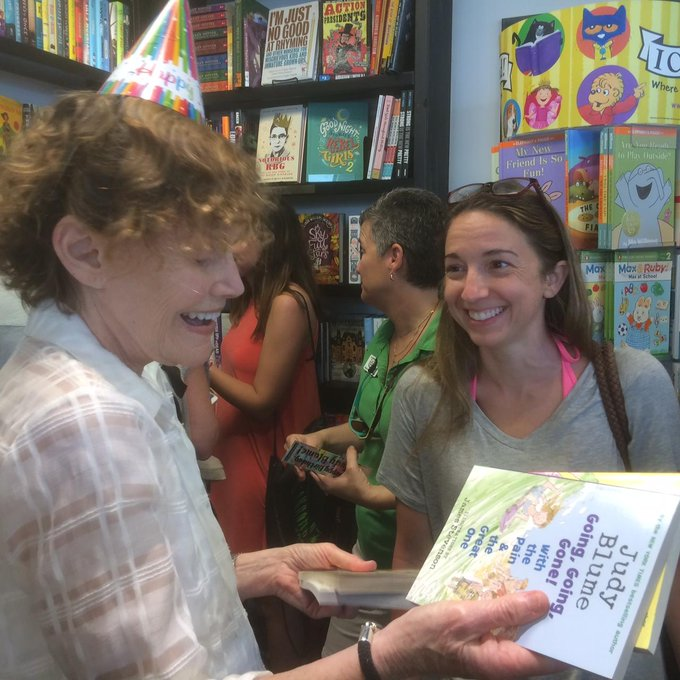 Happy Birthday, Author celebrates her 80th birthday at work in