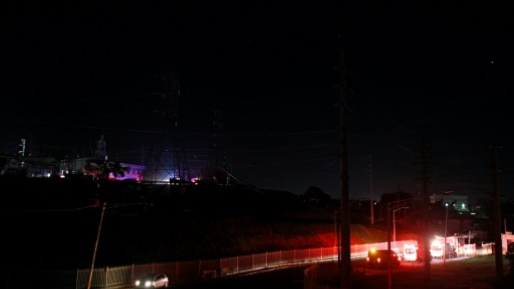 Power station blast plunges Puerto Rico into darkness