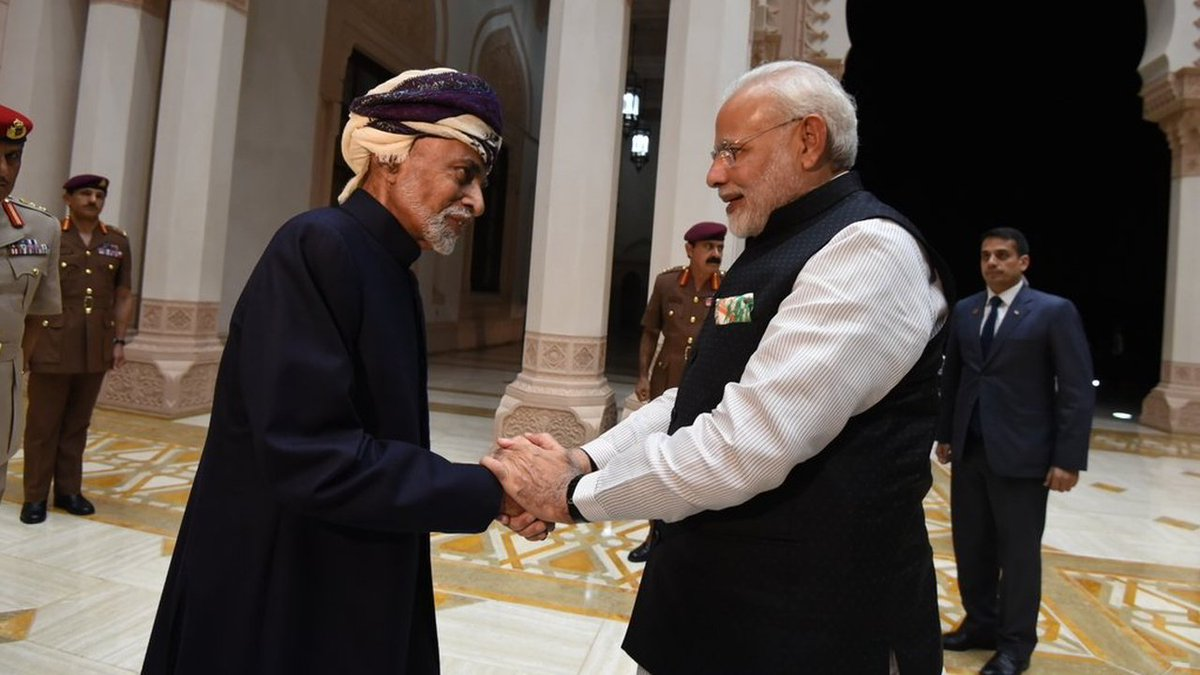 King-sized treatment: Sultan Qaboos of Oman sends breakfast for PM Modi from his palace