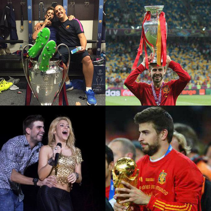 Happy birthday to Gerard Pique! Which trophy do you think he celebrates the most?