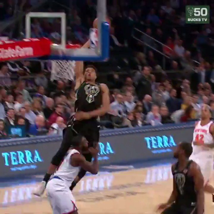 Start @NBAAllStar Week with the #Giannis Dunk of the Year!!  #FearTheDeer https://t.co/gfQchLLTY4
