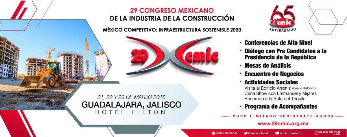 test Twitter Media - Los invitamos al 29 congreso mexicano de la industria de la construcción que se llevará a cabo en Guadalajara, Jalisco, cupo limitado, ¡regístrate! @cmicnacional https://t.co/iwQKIaBNQn