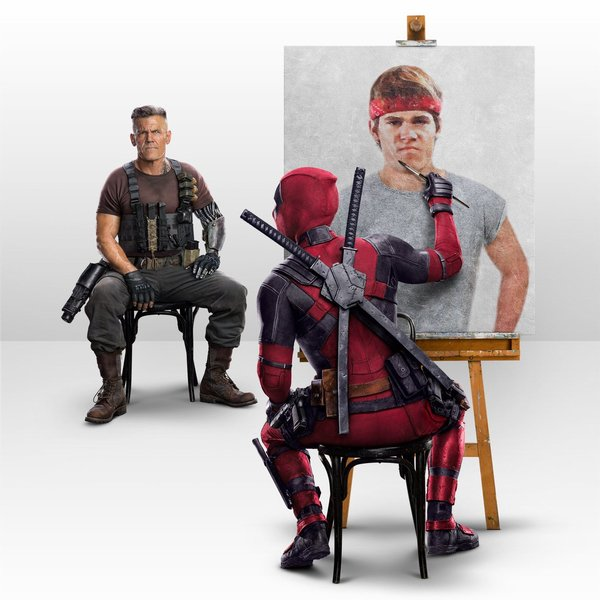 Deadpool Wishes Josh Brolin A Happy Birthday With A Painting