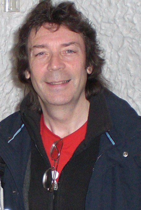 Happy birthday to Steve Hackett. Photo taken a decade ago at a Charisma Records reunion in Wardour Street.