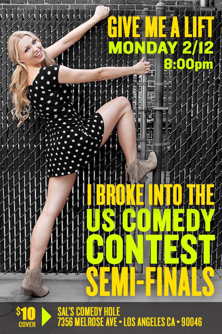 It's TONIGHT!! #USComedyContest #standup #funnygirl KeD2ZqBEqA