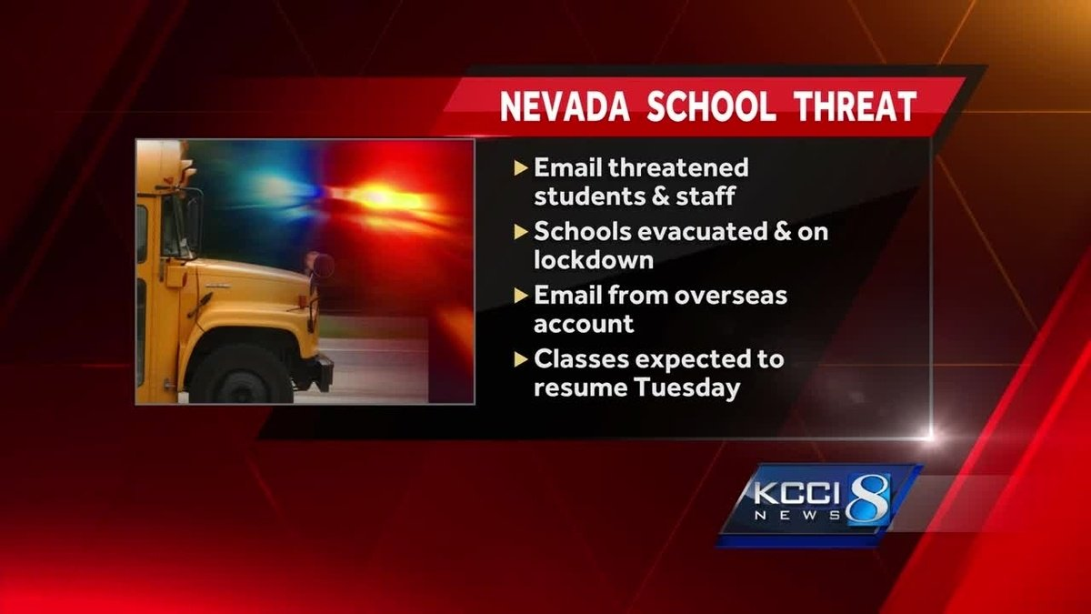 Students evacuated from Nevada school following overseas email threat
