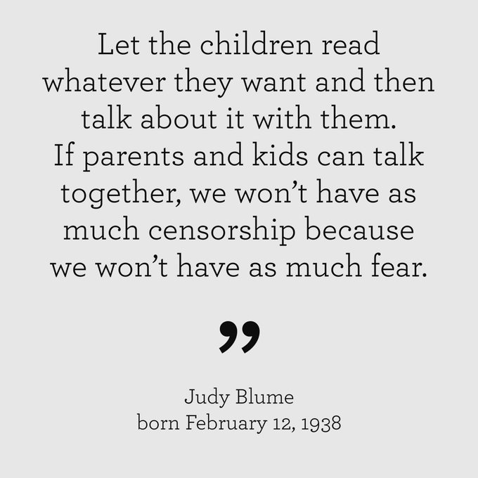 Happy 80th Birthday, Judy Blume!
