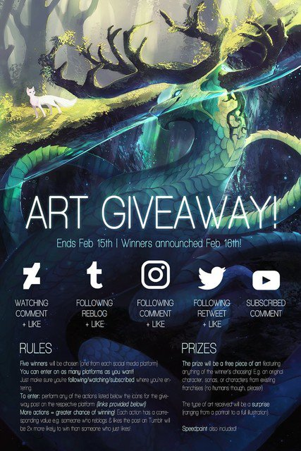 ART GIVEAWAY (like and comment to enter!)