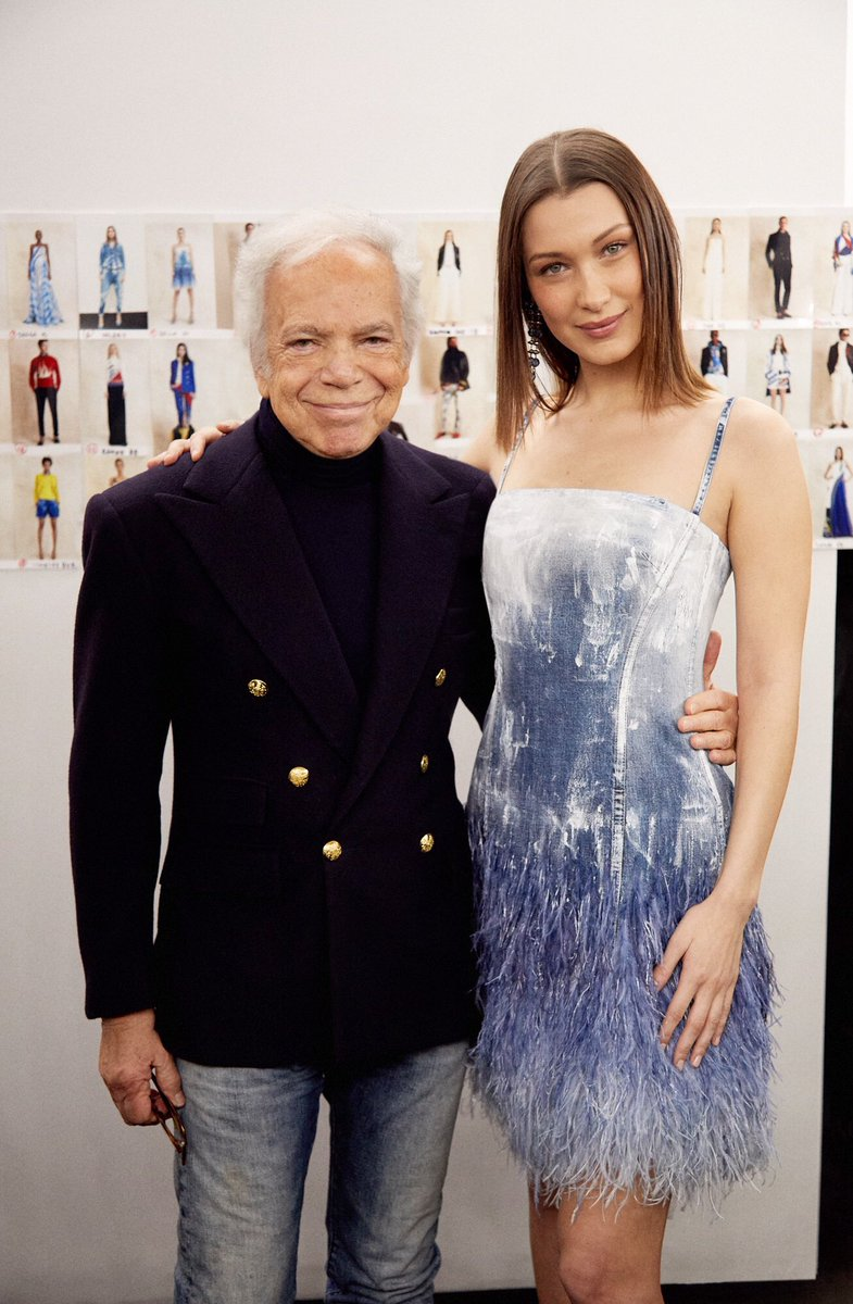 Ralph Lauren and @bellahadid before the #RLSpring2018 Fashion Show. #NYFW https://t.co/l1mIfXLfXg