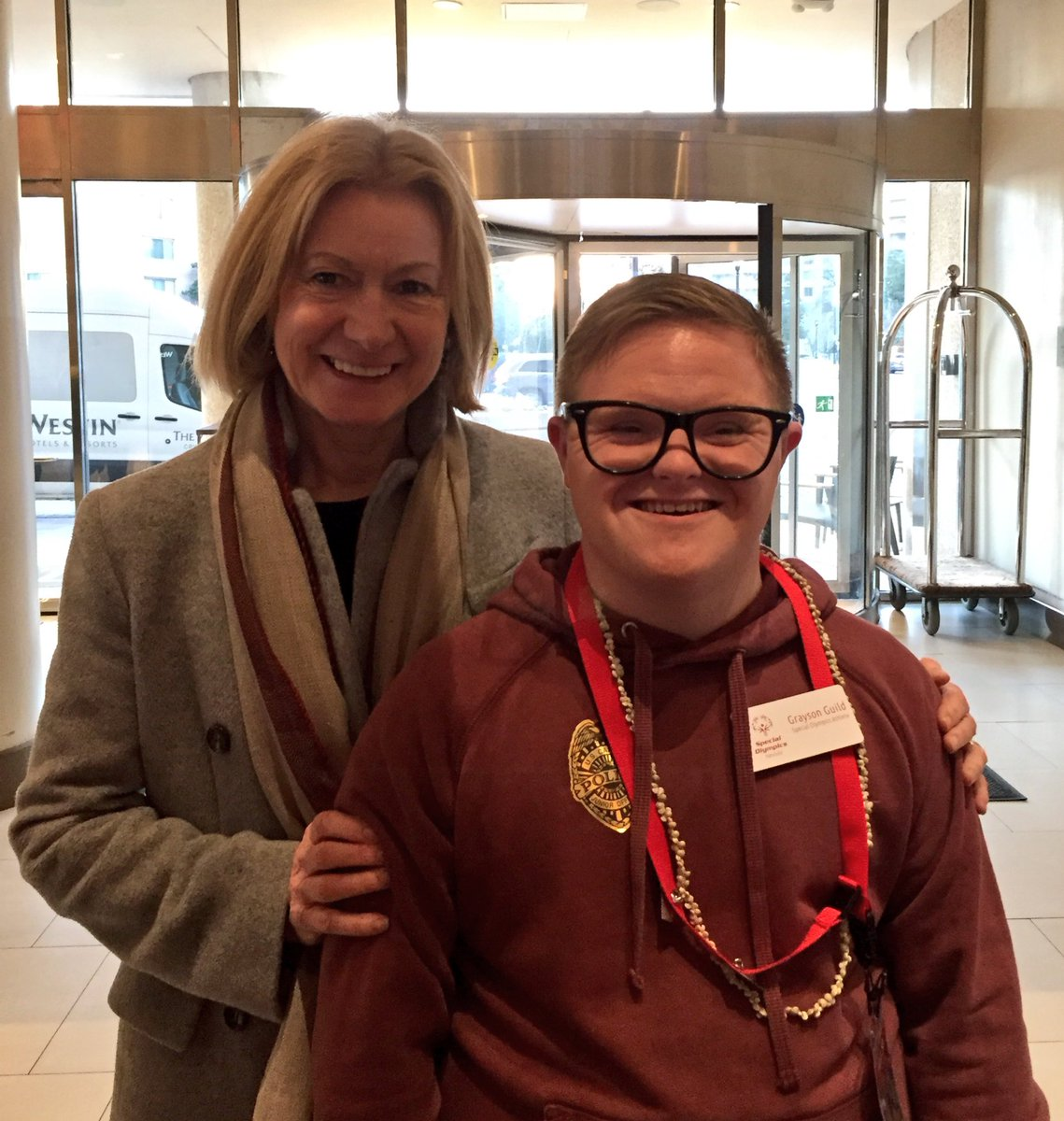 Play Together. Learn Together. Live Together!   Our athlete Grayson met up with @MaryDavisSO as we advocate for inclusion & spread the word about @SpecialOlympics in DC this week. #SOHillDay https://t.co/0zuCRBEdfH