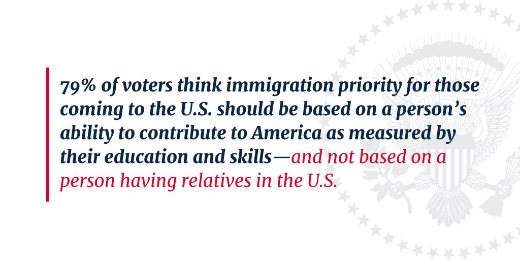 Now is the time to enact common-sense reforms to base immigration on individual merit and skill. https://t.co/FqvZaK97Al