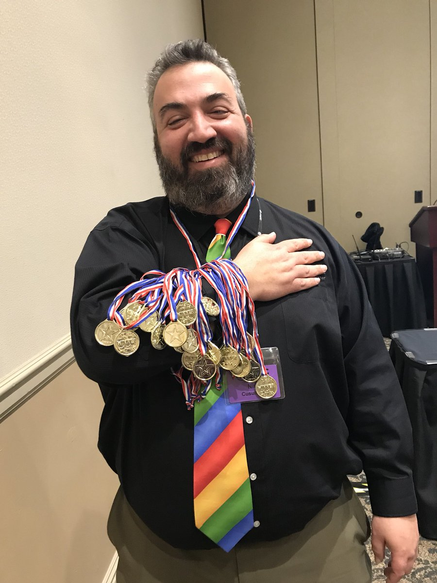 RT @i3algebra: Nick @mrnickcusumano is the Michael Phelps of Google.  He has all of the badges!  #METC18 https://t.co/gzhVEmoWQ1