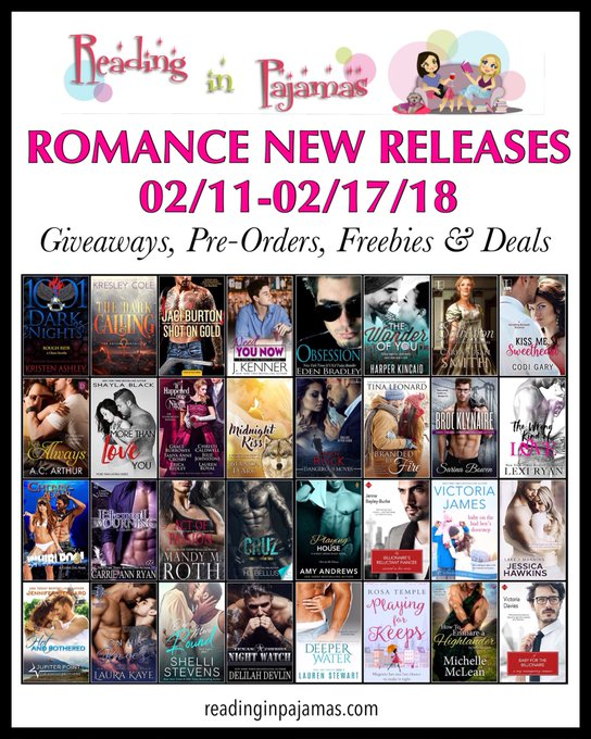 ROMANCE NewReleases 02/11-02/17/18 Giveaways PreOrders Freebies & Deals