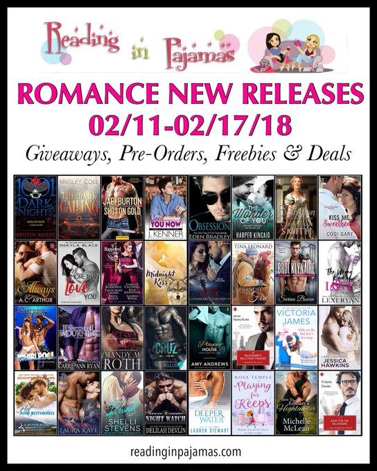 ROMANCE NewReleases 02/11-02/17/18 Giveaways PreOrders Freebies & Deals