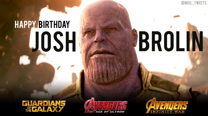 Wishing a very happy 50th birthday to the man who portrays Thanos in the MCU, actor Josh Brolin!