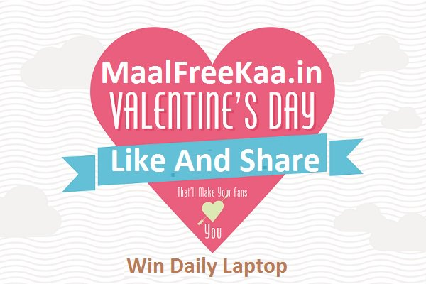 Valentine Day Contest Win Daily Free Laptop And More