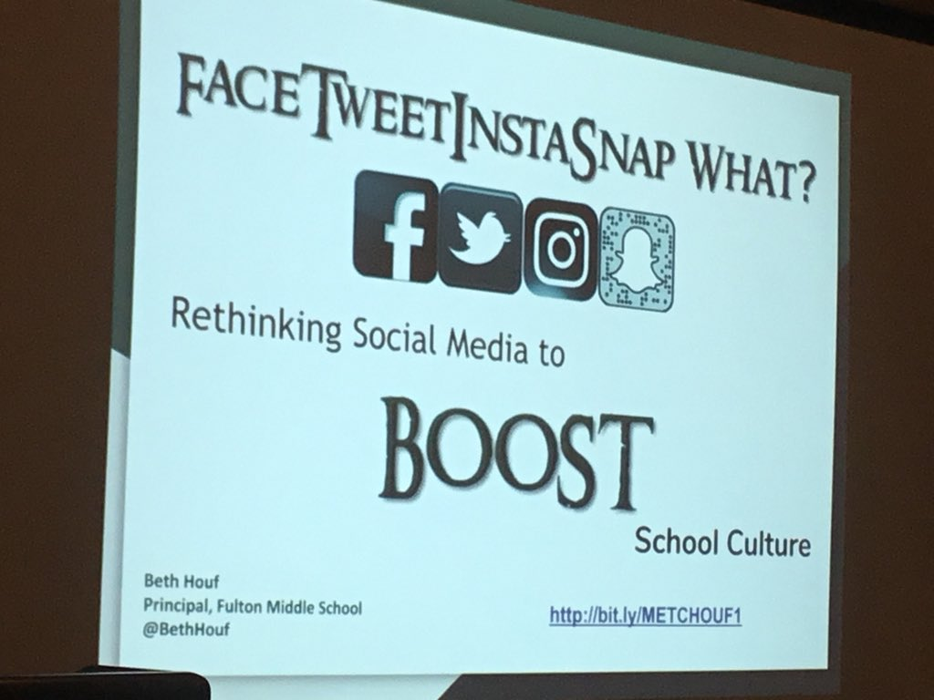Excited to learn from @BethHouf today! Rethinking Social Media to Boost School Culture. #metc18 #moedchat https://t.co/3YbIfmYA1f