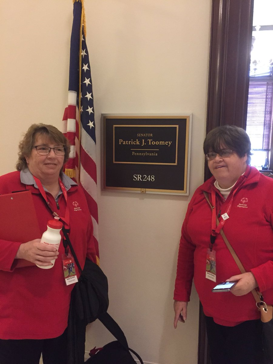 Great @SpecialOlympiPA meeting this AM with @SenToomey office for #SOHillDay https://t.co/mvsyFCEE1s