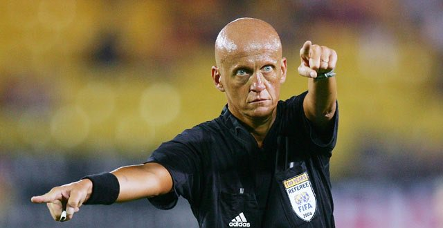 Happy birthday, Pierluigi Collina.  Players always showed him respect...wonder why?
