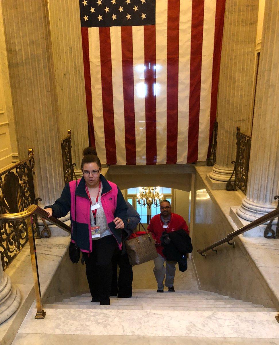 Keyshana heads to the hill #SOHillday https://t.co/2rNGTfWM2t