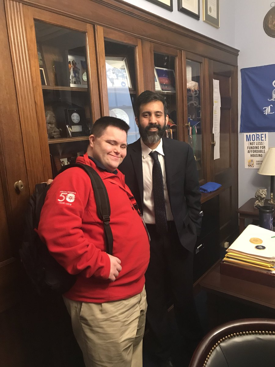 At the office of @RepEspaillat talking about Unified Champion Schools and @SpecialOlympics Health! #SOHillDay @SONYinfo @JohnsCrazySocks https://t.co/oPFmNRizTu