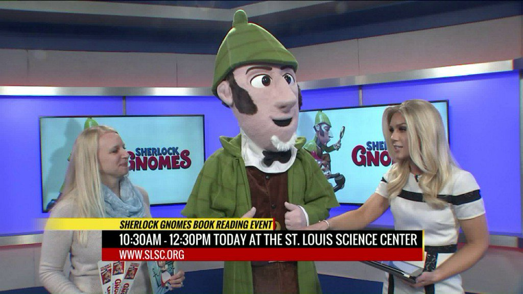 Sherlock Gnomes Book Reading Event at St. Louis Science Center