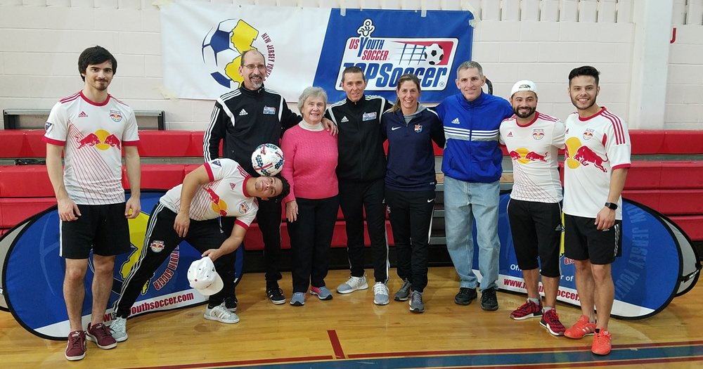 A recent @NJYouthSoccer TOPSoccer event featured reps from @NewYorkRedBulls and @SkyBlueFC.   Learn more about the event and program: https://t.co/PvZ7ATDMZp https://t.co/r3lbxxRBhY