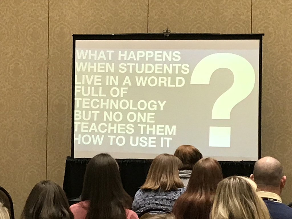 Get over the idea that kids are inherently good at technology. Teaching is still required. #METC18 https://t.co/t9Gnshs4A8