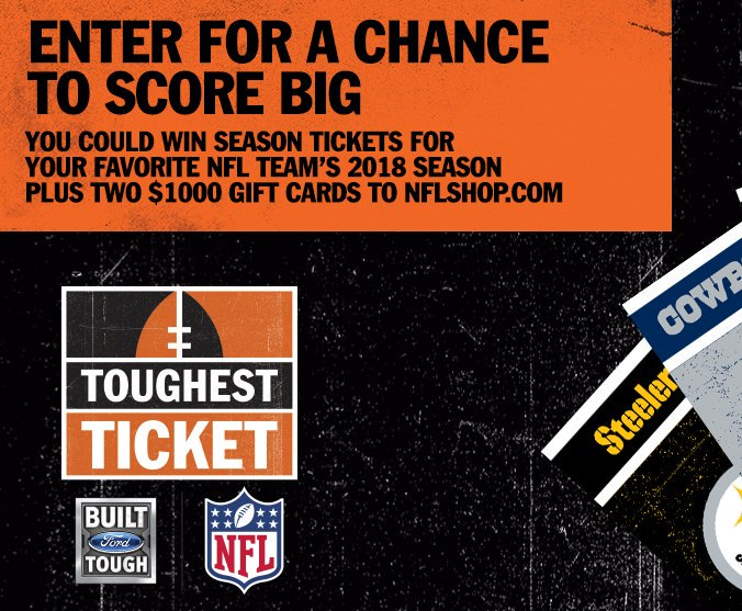 2018 NFL Toughest Ticket Season Ticket Giveaway