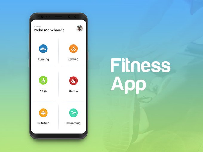Fitness App by manchanda05 freebie
