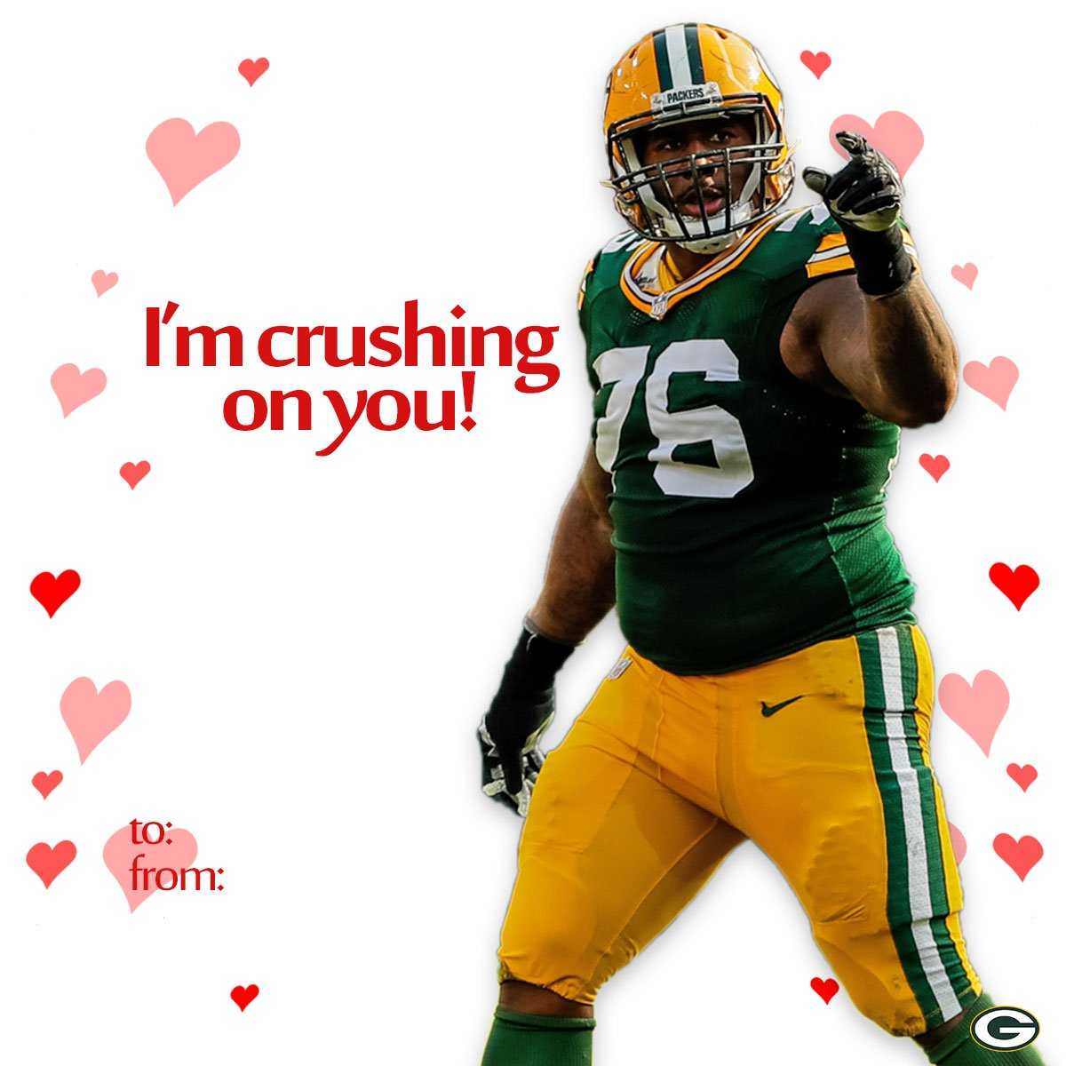 Show your crush some ❤️ this Valentine's Day.  Download & print #Packers cards: https://t.co/4U5HZK45ta https://t.co/5HgKiw6V6Z