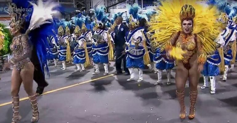 Paulo Tatuape. Foto do site da Caras Brasil que mostra Escola Acadêmicos do Tatuapé é campeã do carnaval 2018 em São Paulo. Saiba mais