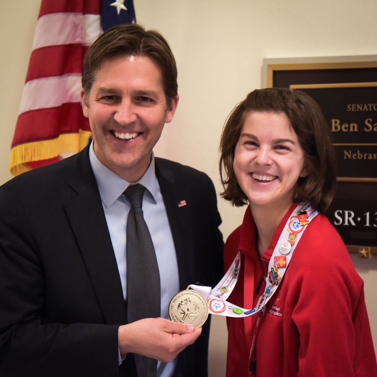Sports don't just build character; they reveal it. Kudos to Rachel Mulligan, whose cross country skiing earned medals in the 500m freestyle race & 1km freestyle race in the @SpecialOlympics Winter World Games in Austria. Thanks for making Nebraska proud! @SONebraska #SOHillDay https://t.co/cyVdmnRyp2
