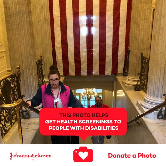 Keyshana spread the word about @specialolympics to her congressmen today #jnj @donateaphoto #ChooseToInclude https://t.co/vL3UagzWEY https://t.co/w4s9CgskyR