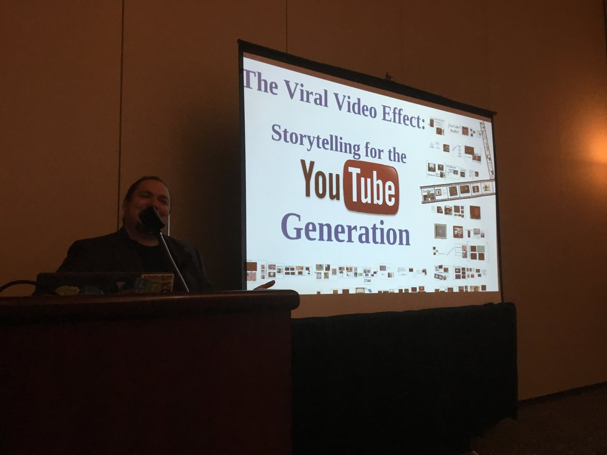 Learning about digital storytelling using YouTube w @teach42 Steve Dembo At #Metc18 https://t.co/l5pq6RT8O7