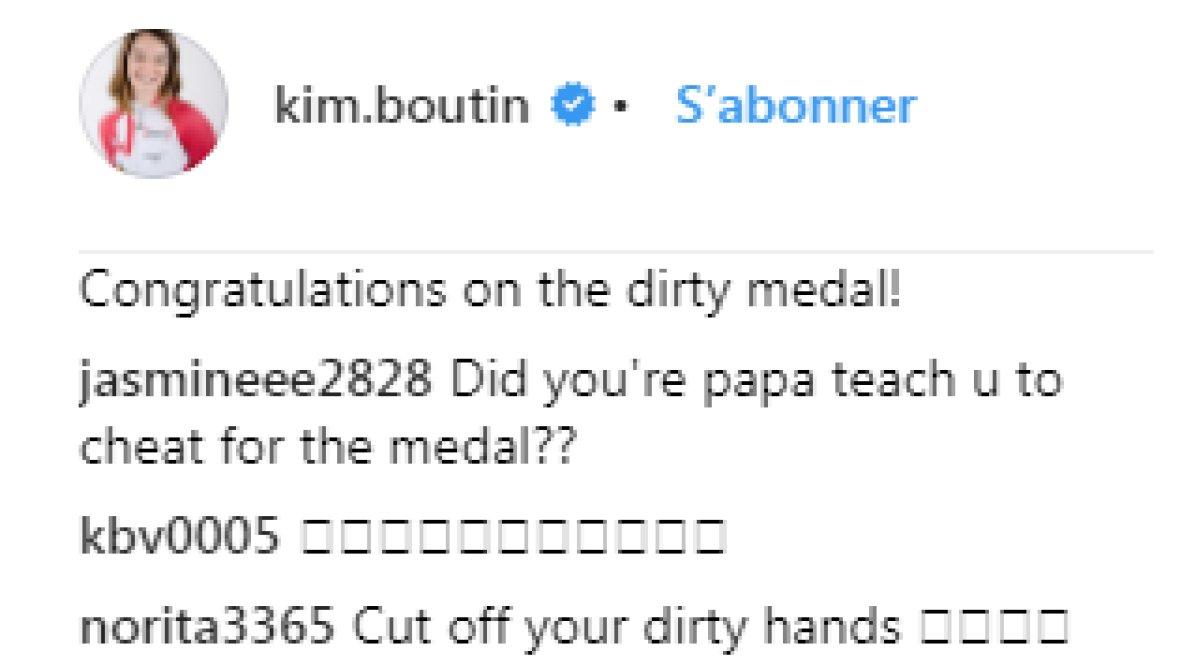 Teammates helped Kim Boutin ri kim boutin