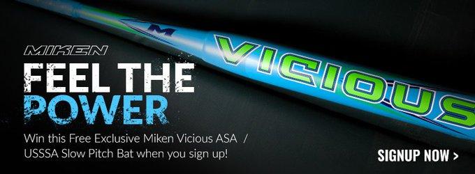 Miken Vicious Slow Pitch Bat Contest Giveaway