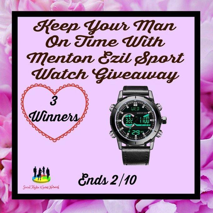Menton Ezil Sport Watch Giveaway! 3 winners