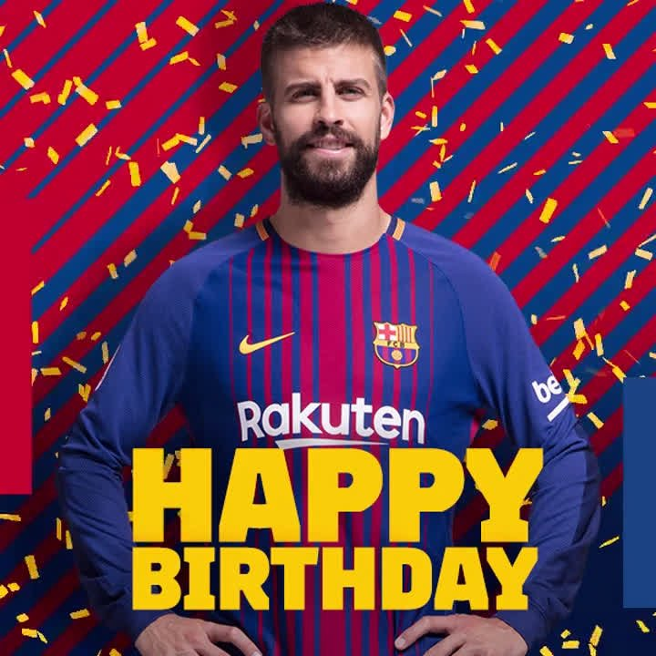 RT @FCBarcelona: ???? A very happy birthday to @3gerardpique! ???? https://t.co/KlmhxkLWPH