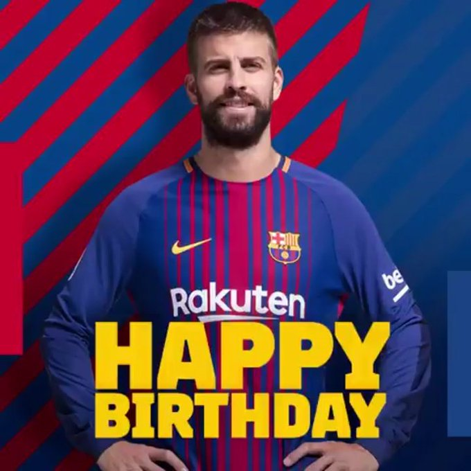 | Happy birthday to Gerard Piqué, who turns 31 today.