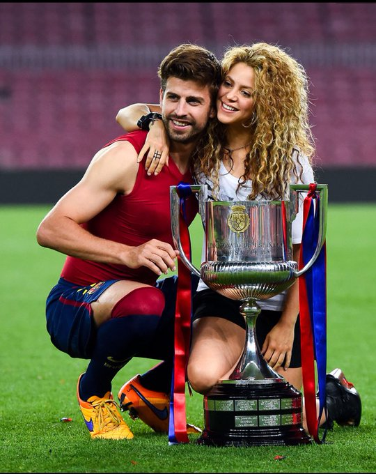 Happy birthday to Piqué and shakira   .